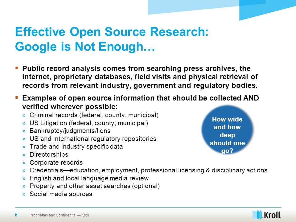 Effective Open Source Research: Google is Not Enough…