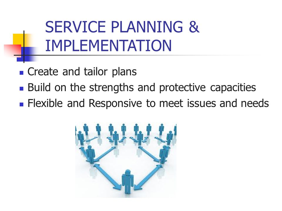 SERVICE PLANNING & IMPLEMENTATION