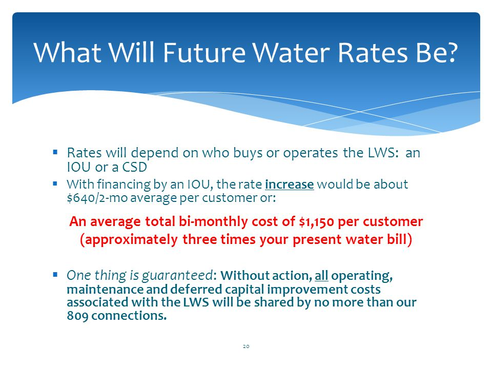 What Will Future Water Rates Be