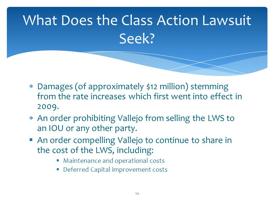What Does the Class Action Lawsuit Seek