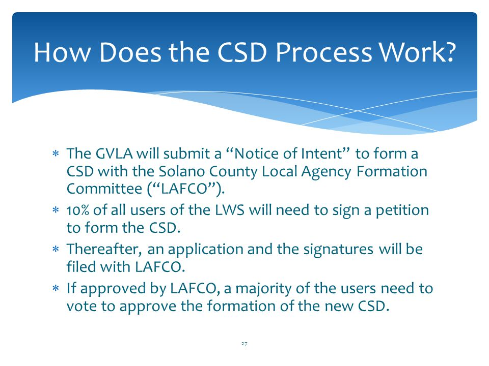 How Does the CSD Process Work