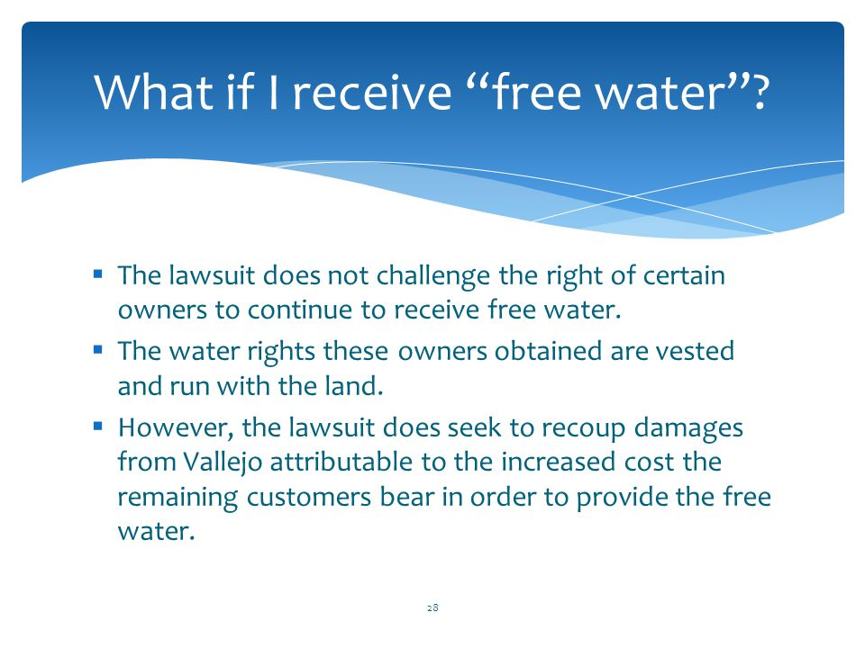 What if I receive free water