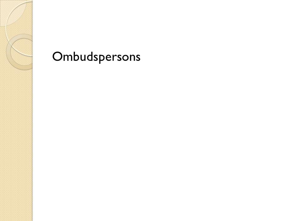 Ombudspersons