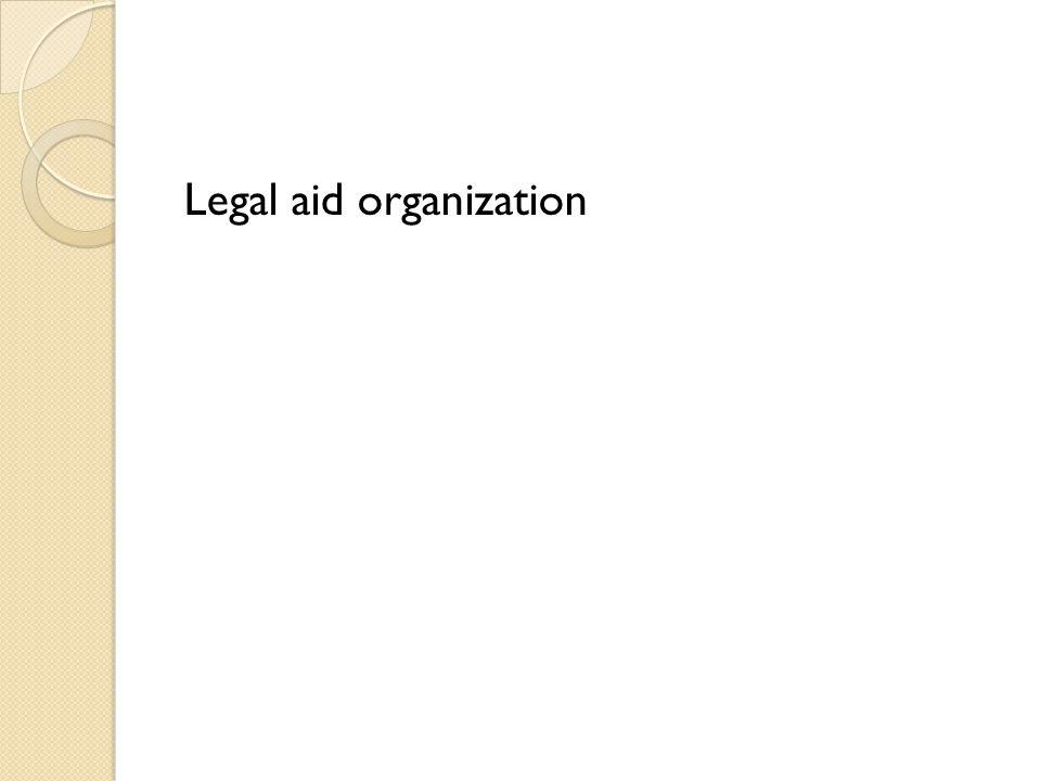 Legal aid organization