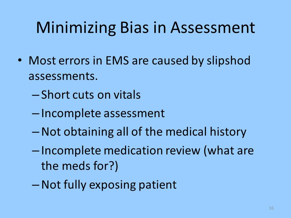 Minimizing Bias in Assessment