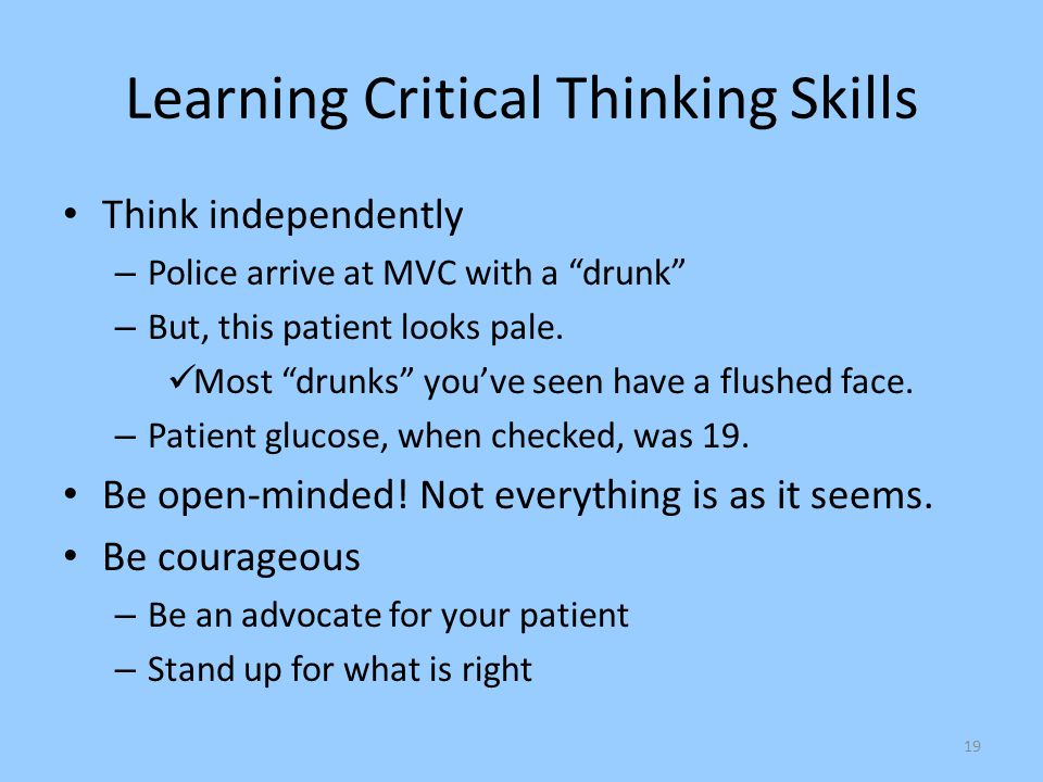 Learning Critical Thinking Skills