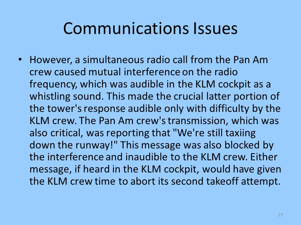 Communications Issues