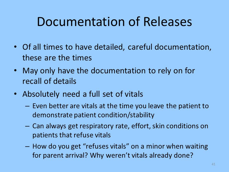 Documentation of Releases