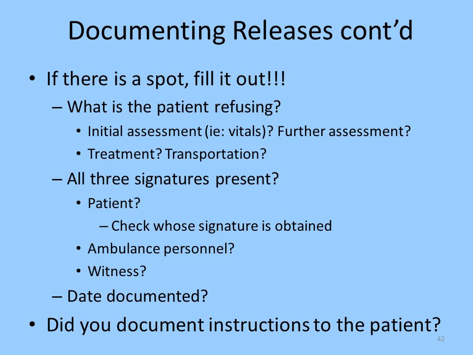 Documenting Releases cont'd