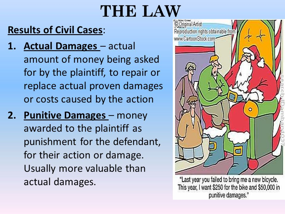 THE LAW Results of Civil Cases: