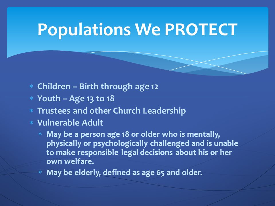 Populations We PROTECT