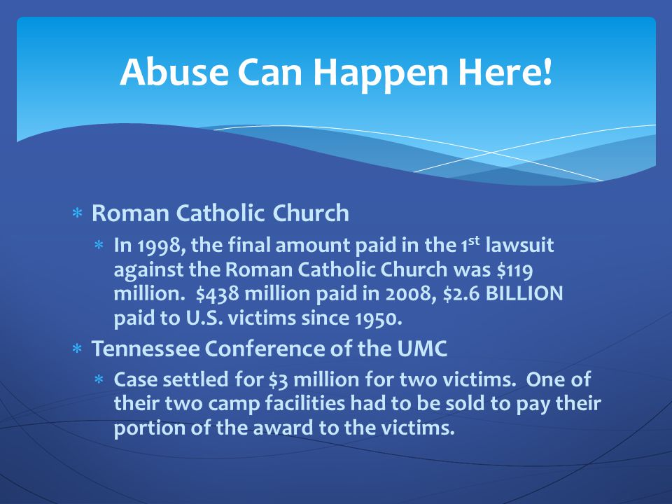 Abuse Can Happen Here! Roman Catholic Church