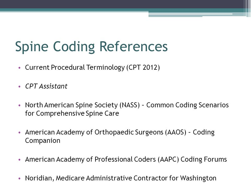 Spine Coding References
