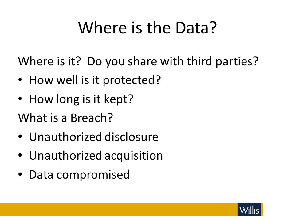 Where is the Data Where is it Do you share with third parties