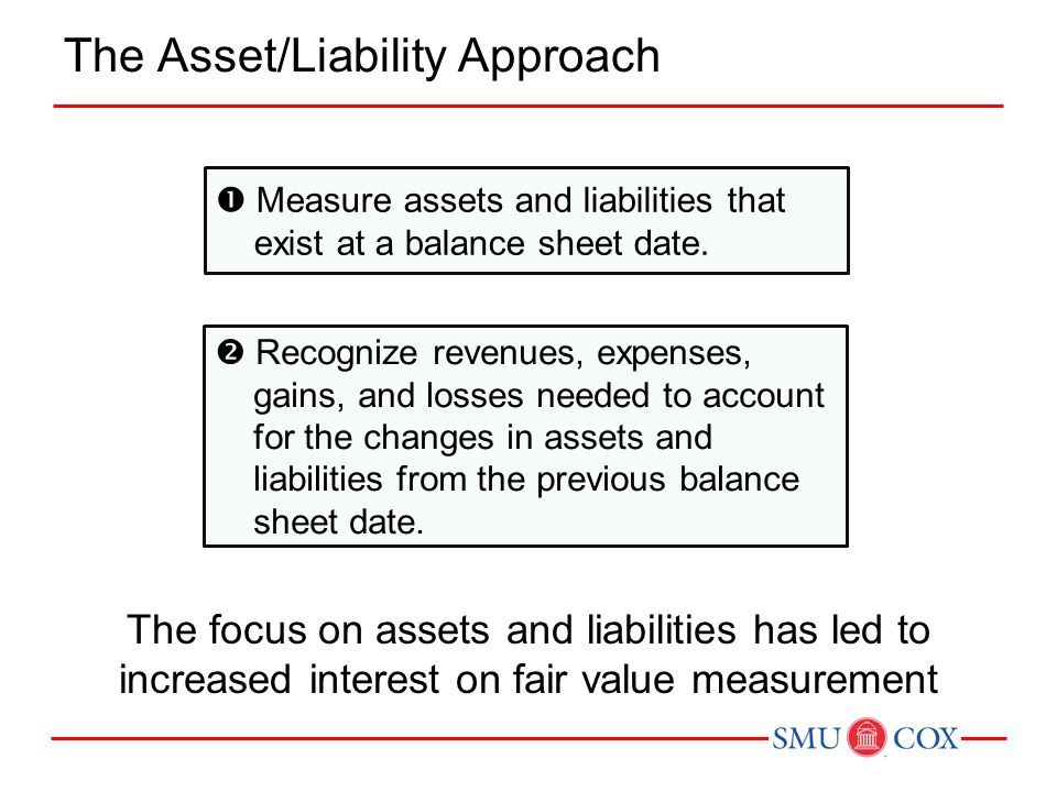 The Asset/Liability Approach