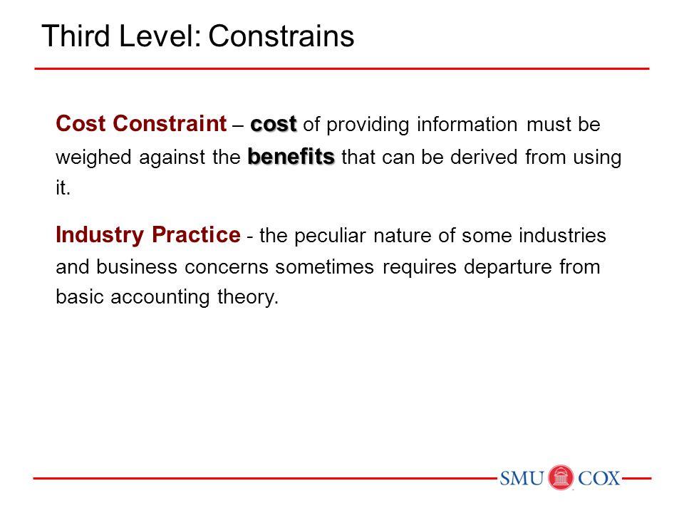 Third Level: Constrains