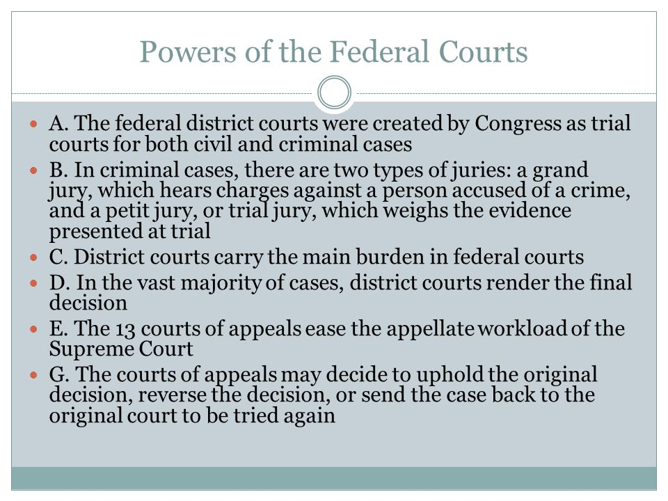 Powers of the Federal Courts