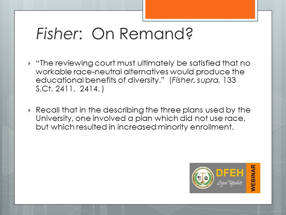 Fisher: On Remand
