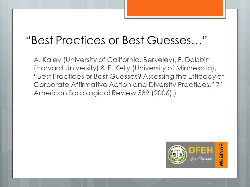 Best Practices or Best Guesses…