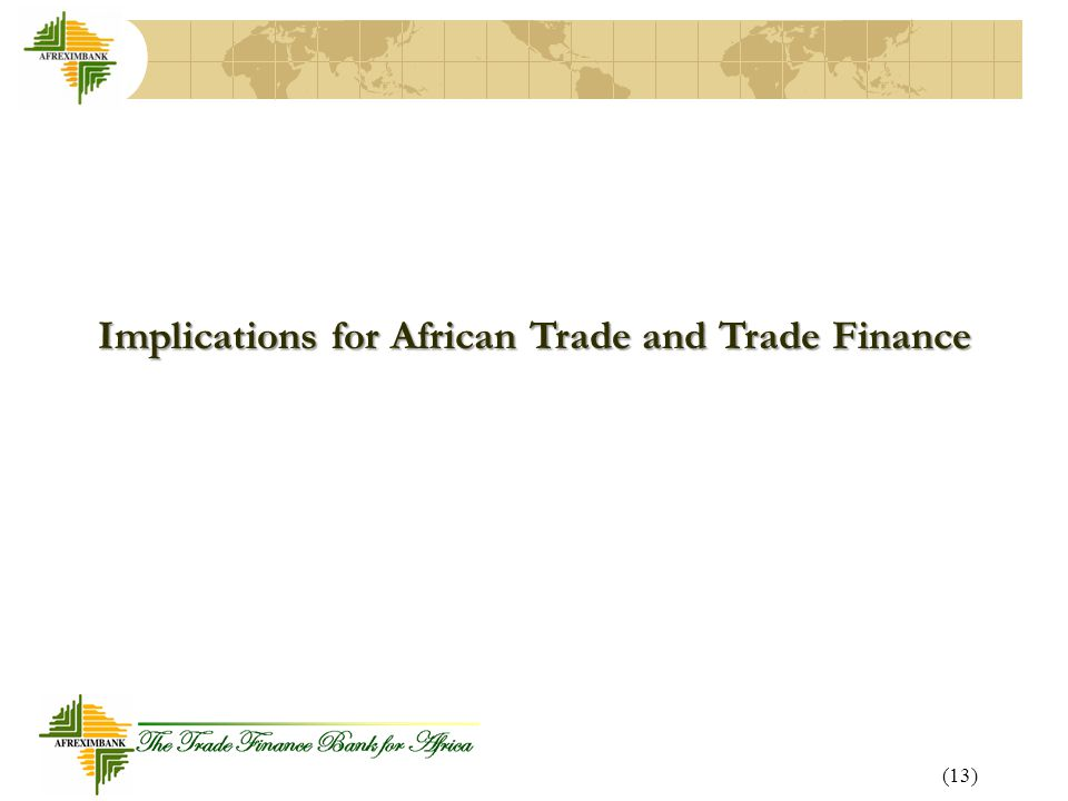 Implications for African Trade and Trade Finance