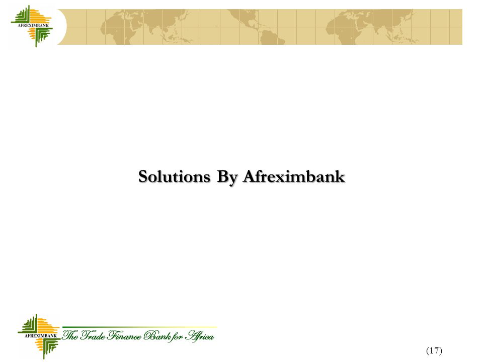 Solutions By Afreximbank