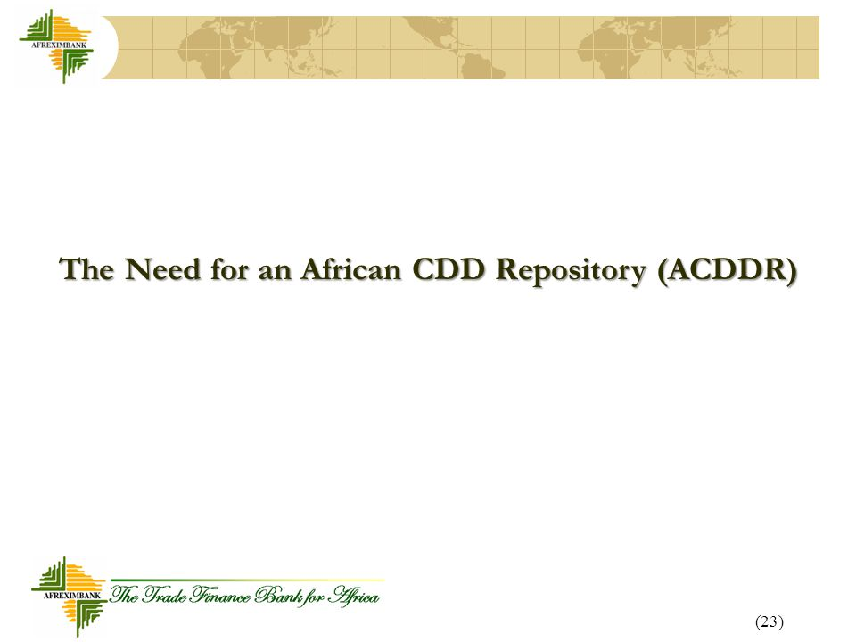 The Need for an African CDD Repository (ACDDR)