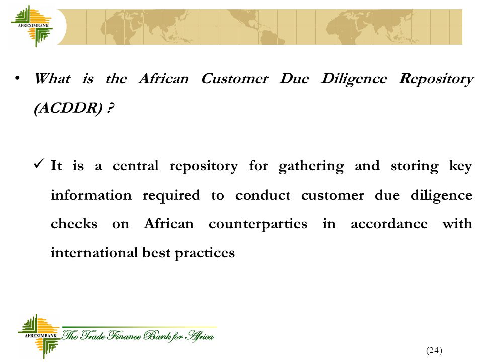 What is the African Customer Due Diligence Repository (ACDDR)