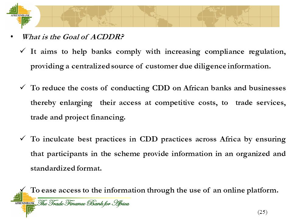 What is the Goal of ACDDR