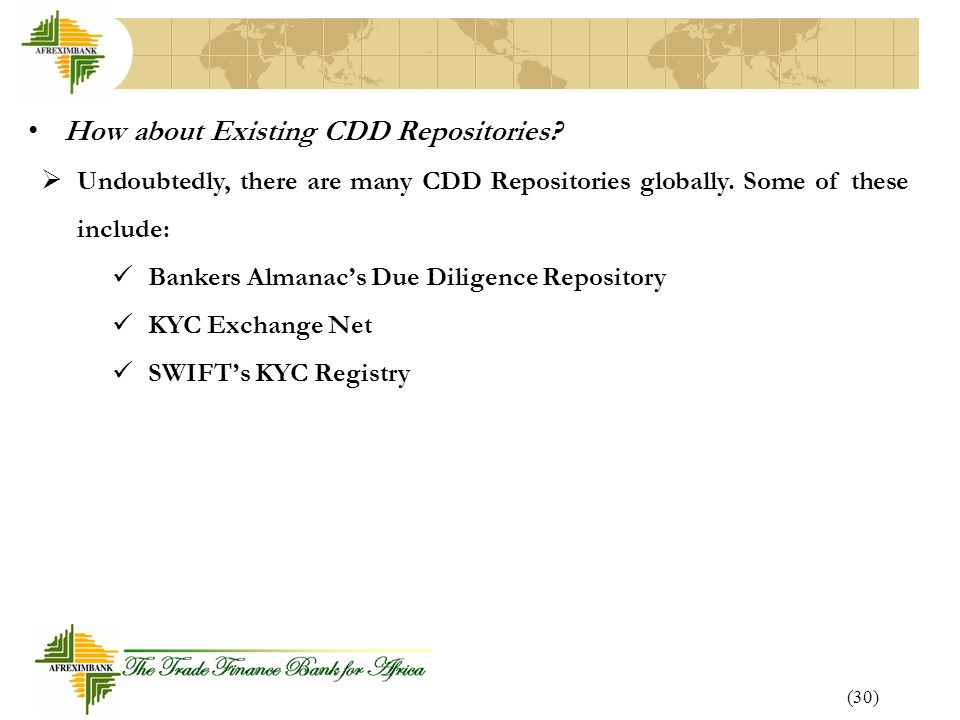 How about Existing CDD Repositories