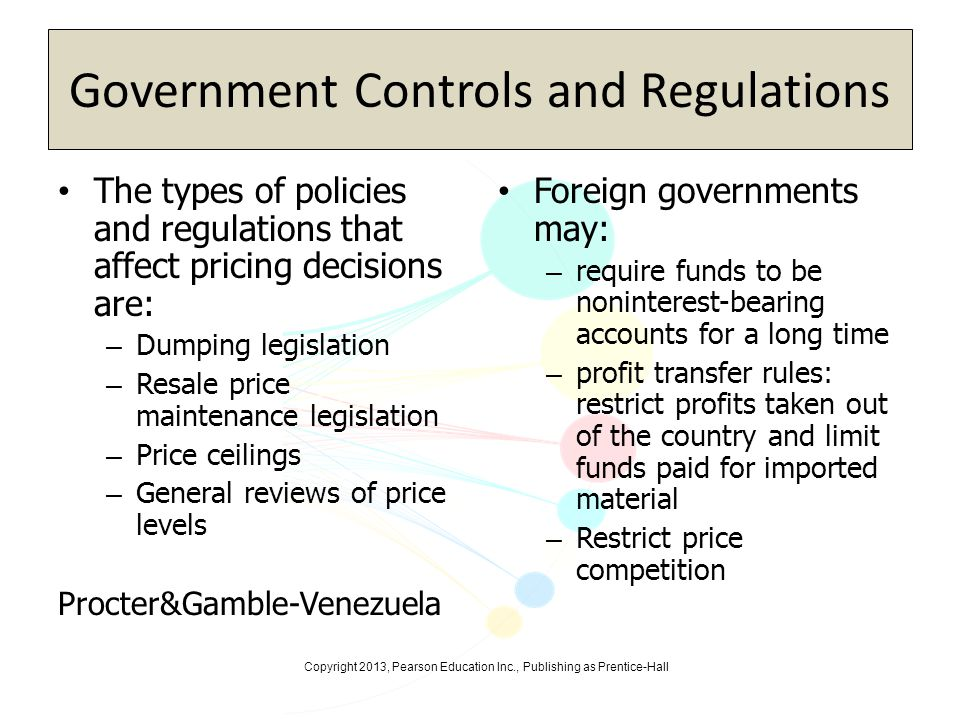 Government Controls and Regulations