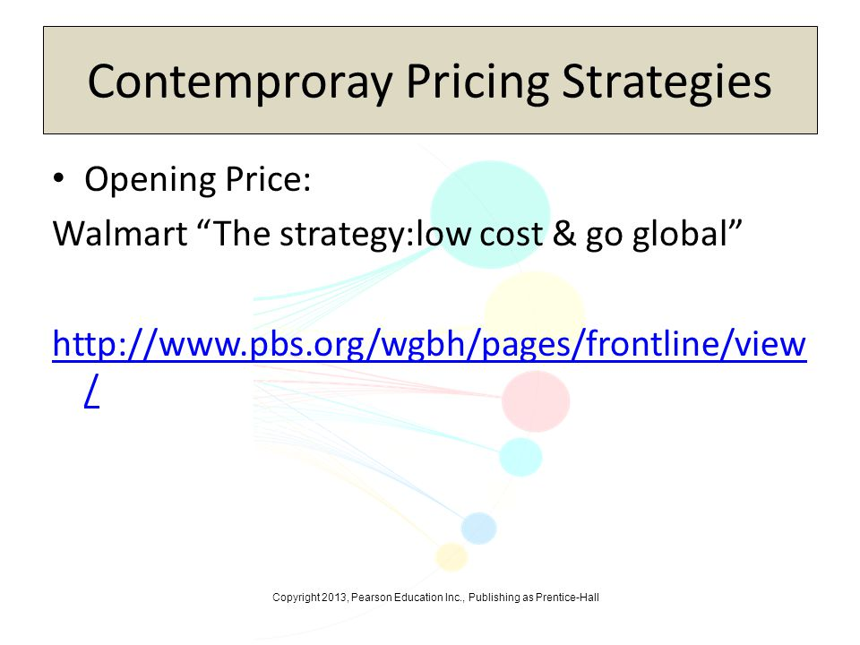Contemproray Pricing Strategies