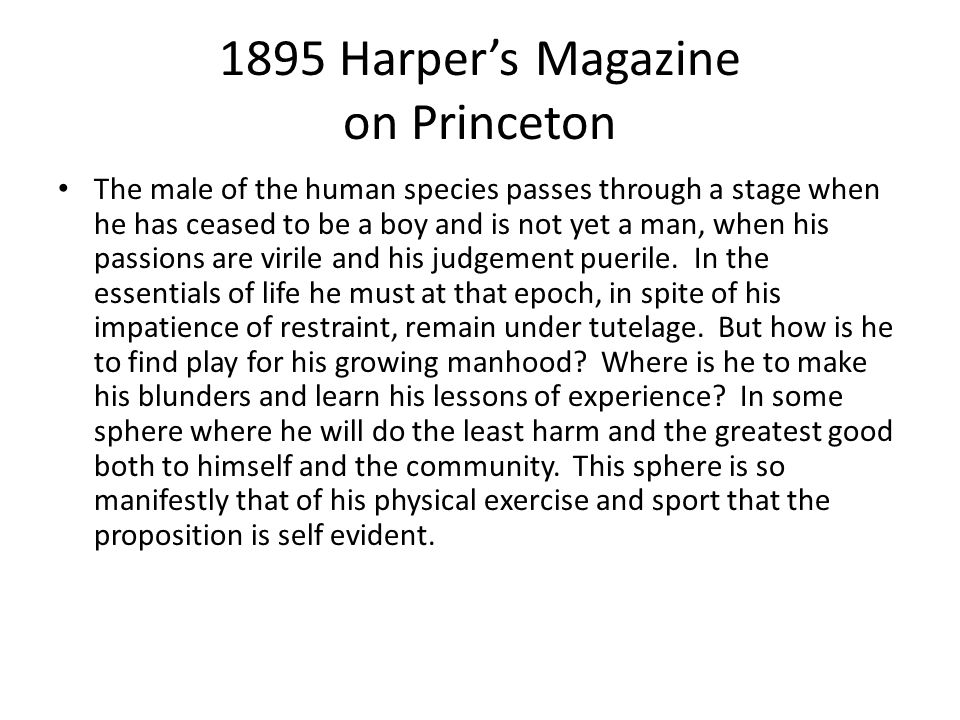 1895 Harper's Magazine on Princeton
