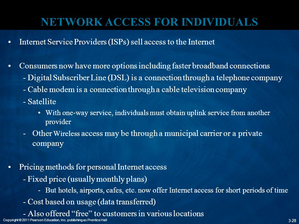 NETWORK ACCESS FOR INDIVIDUALS