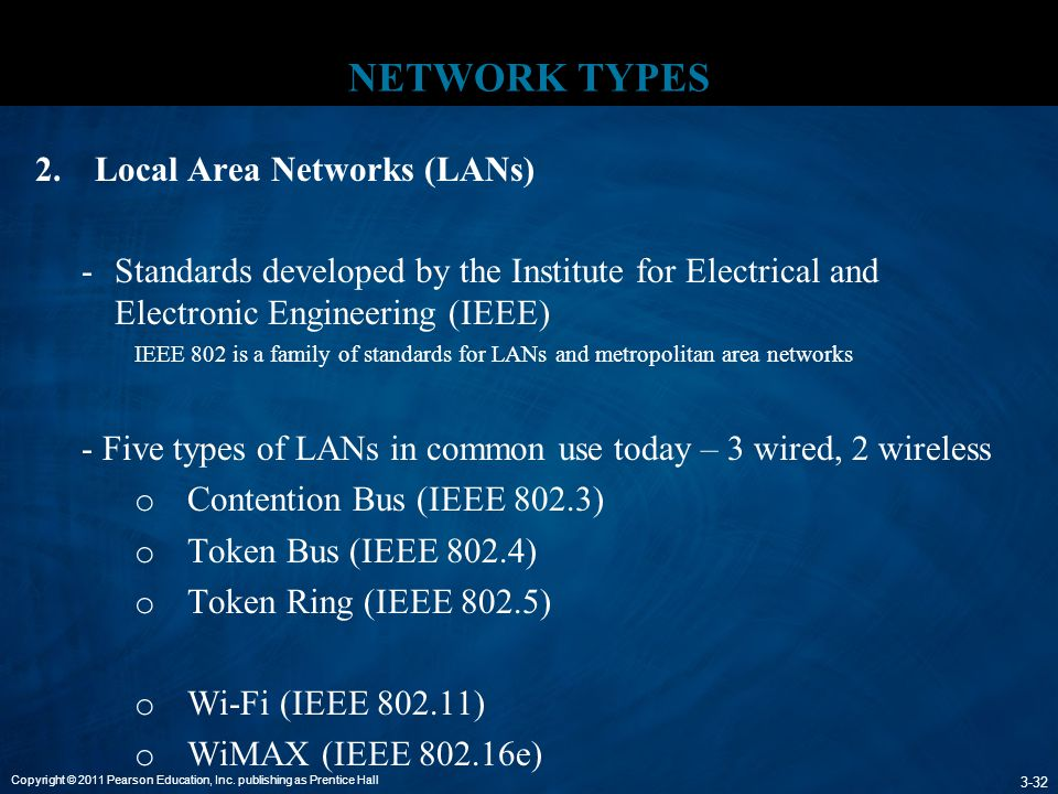 NETWORK TYPES Local Area Networks (LANs)