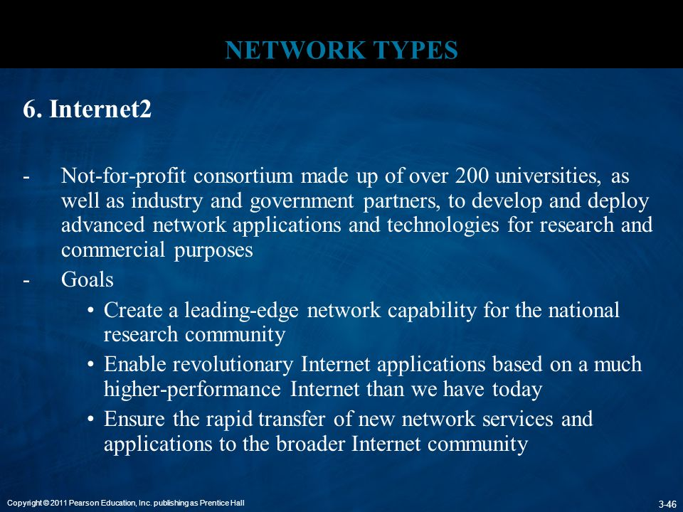 NETWORK TYPES 6. Internet2