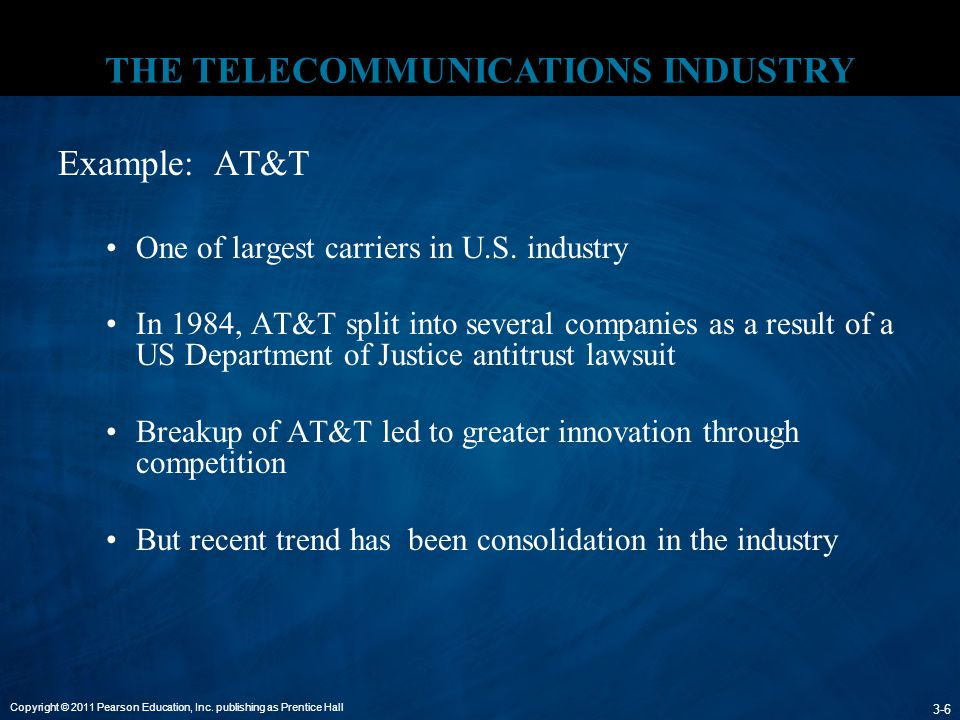 THE TELECOMMUNICATIONS INDUSTRY