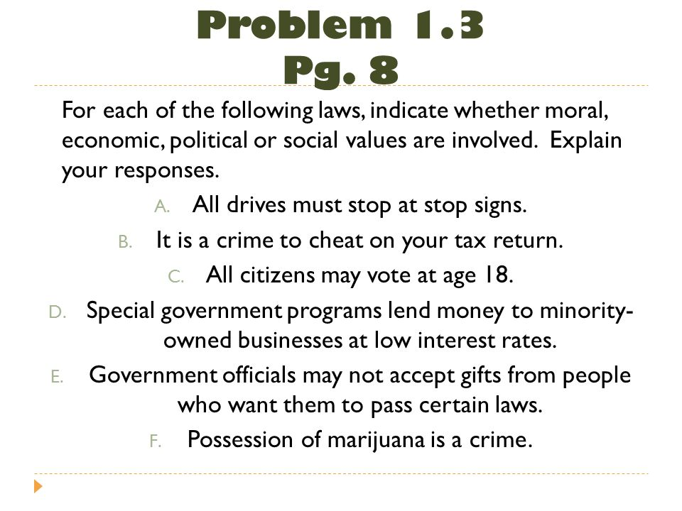 Problem 1.3 Pg. 8