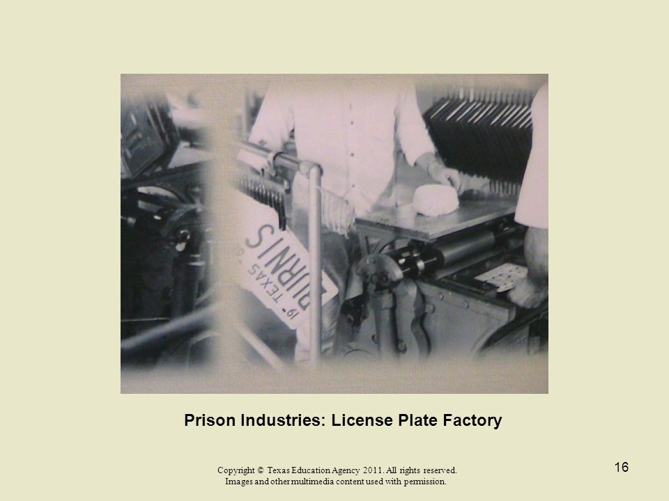 Prison Industries: License Plate Factory