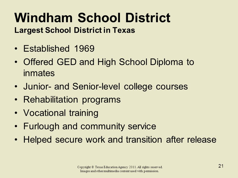 Windham School District Largest School District in Texas