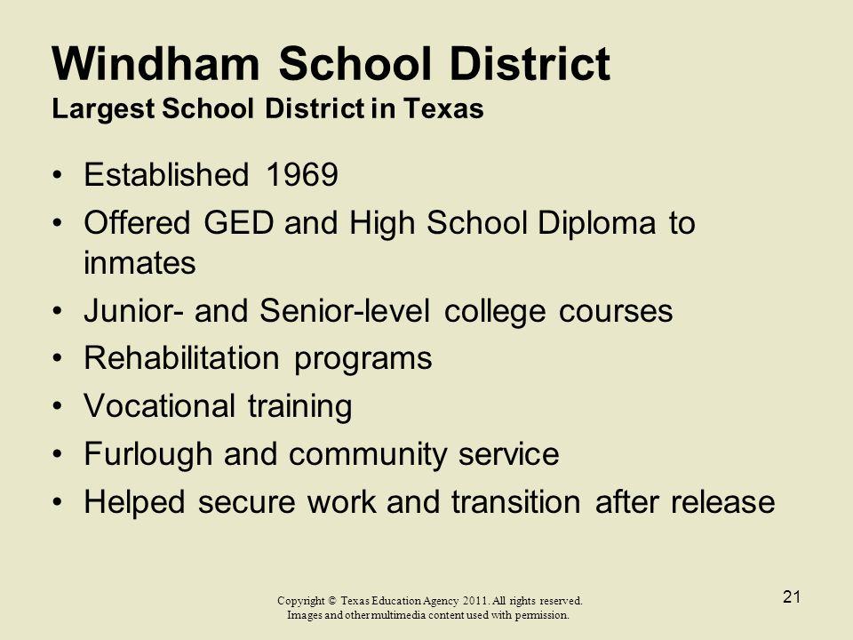 Windham School District Largest School District in Texas