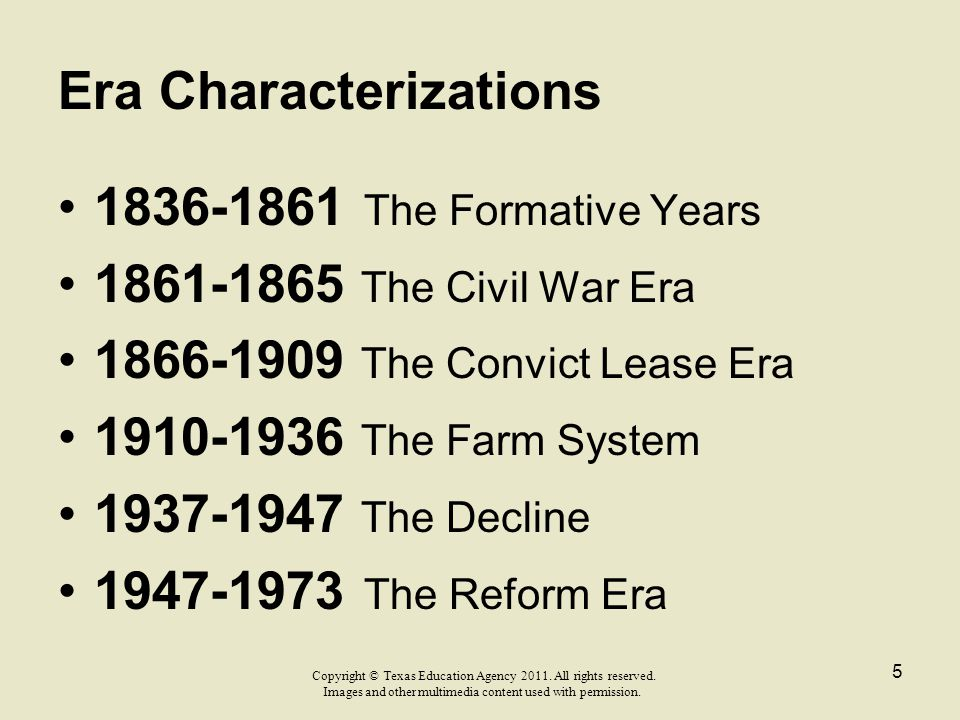 Era Characterizations