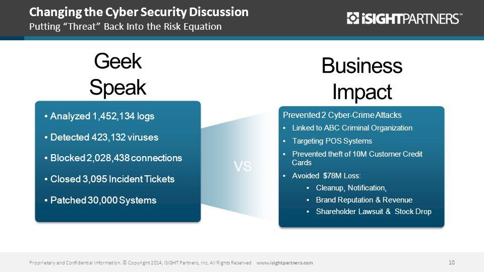 Geek Speak Business Impact