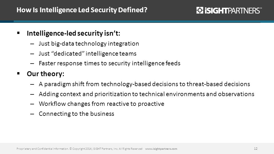 How Is Intelligence Led Security Defined