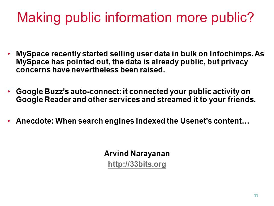Making public information more public