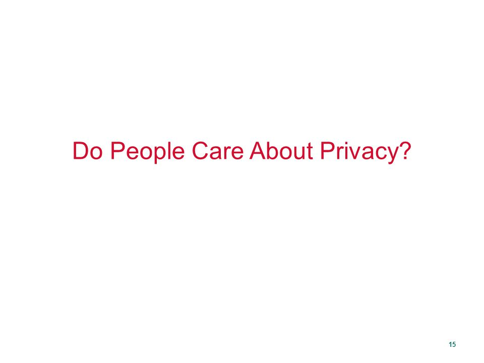 Do People Care About Privacy