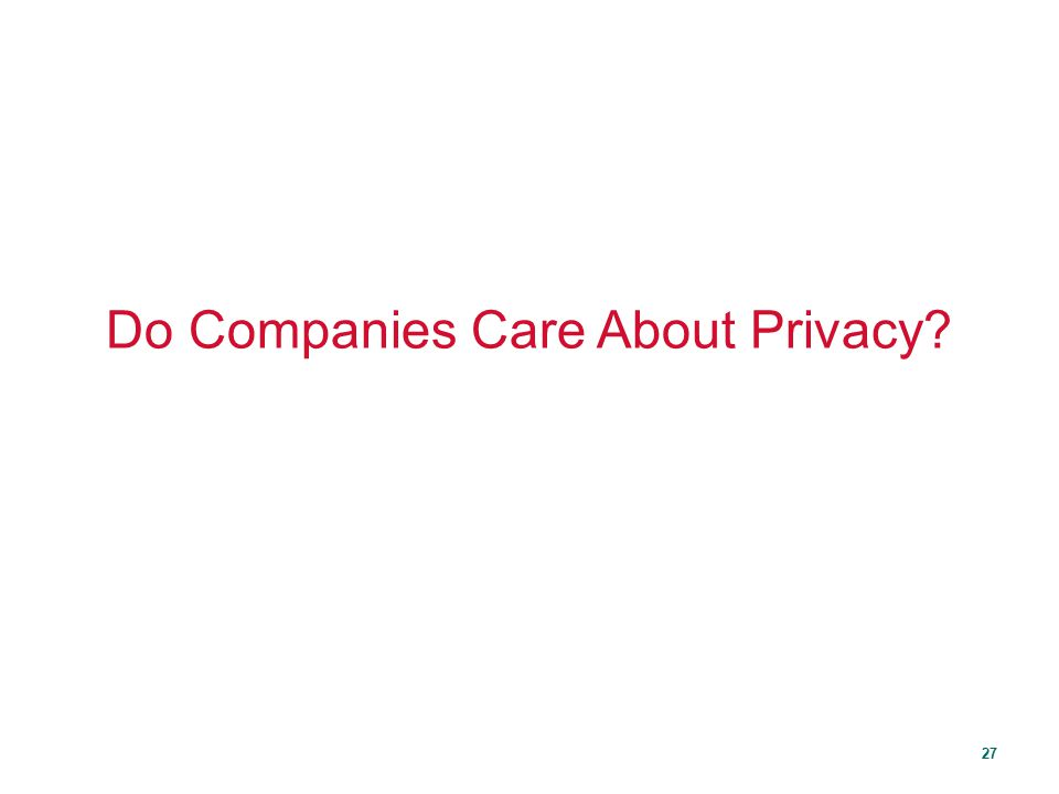 Do Companies Care About Privacy