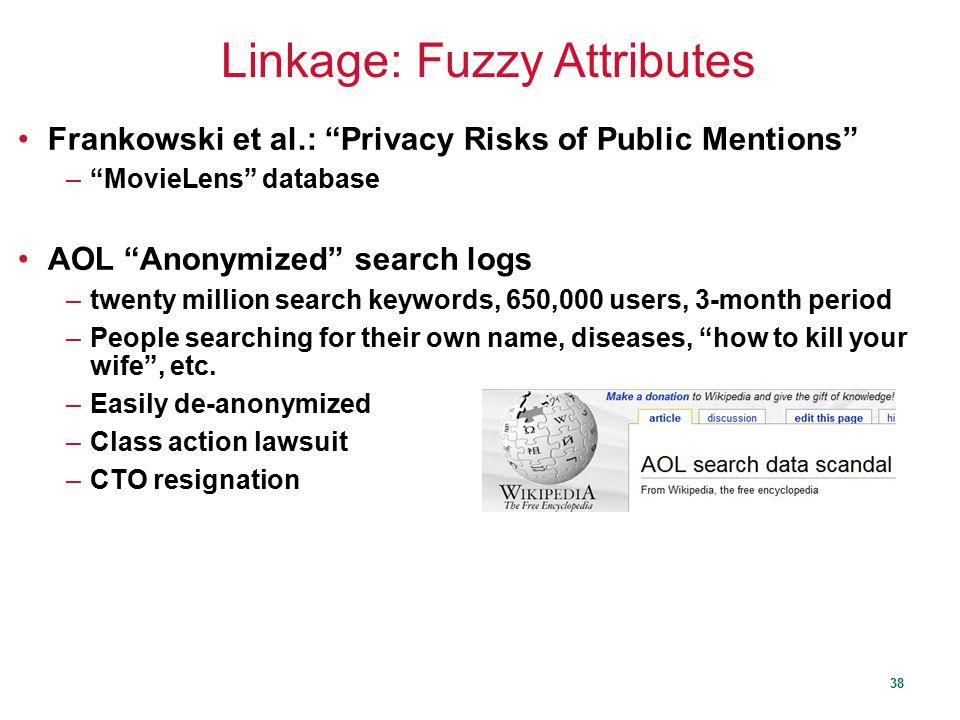 Linkage: Fuzzy Attributes
