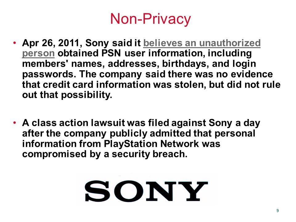 Non-Privacy