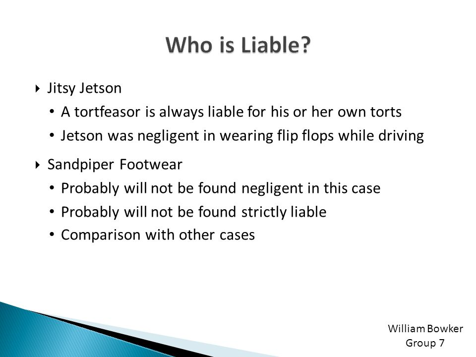 Who is Liable Jitsy Jetson