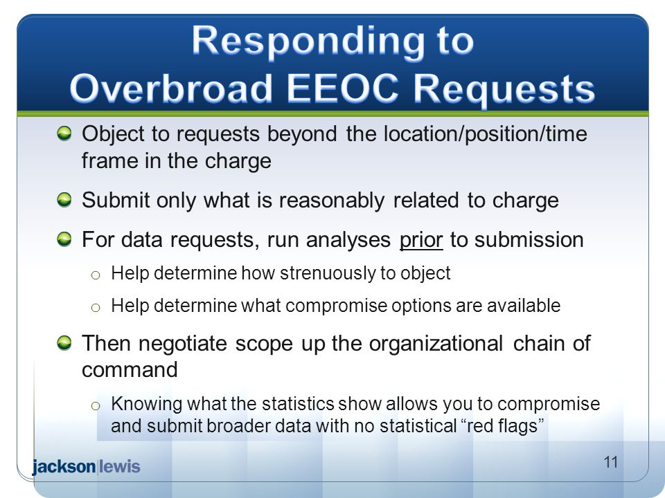 Responding to Overbroad EEOC Requests